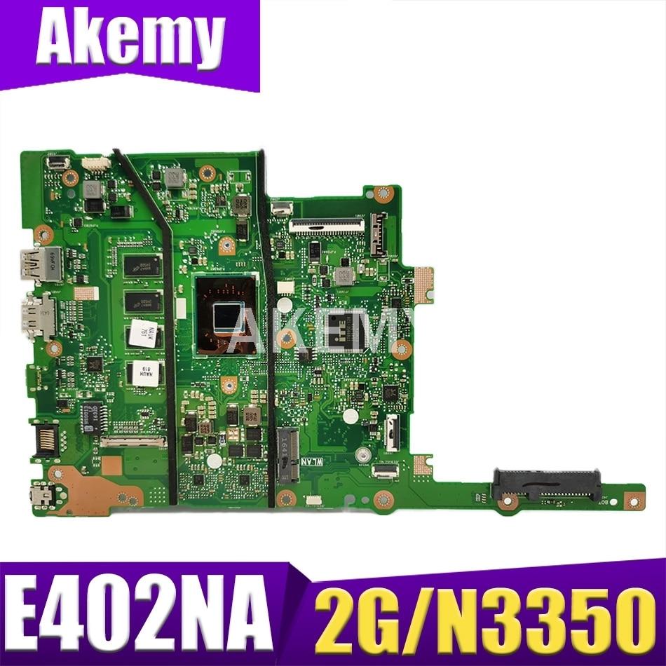 90NB0C50-R00040 للوحة الأم للكمبيوتر المحمول ASUS E402NAS E402NA E402N مع 2G RAM / N3350 (كمبيوتر محمول 14 بوصة)