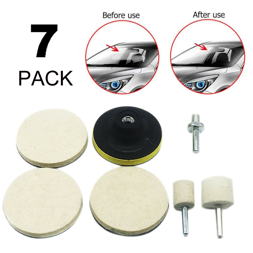 7-piece car windshield polishing kit practical SUV car window scratch remover glass polishing kit scratch repair removal kit ossieao new watch glass polishing kit glass scratch removal set acrylic sapphire crystal