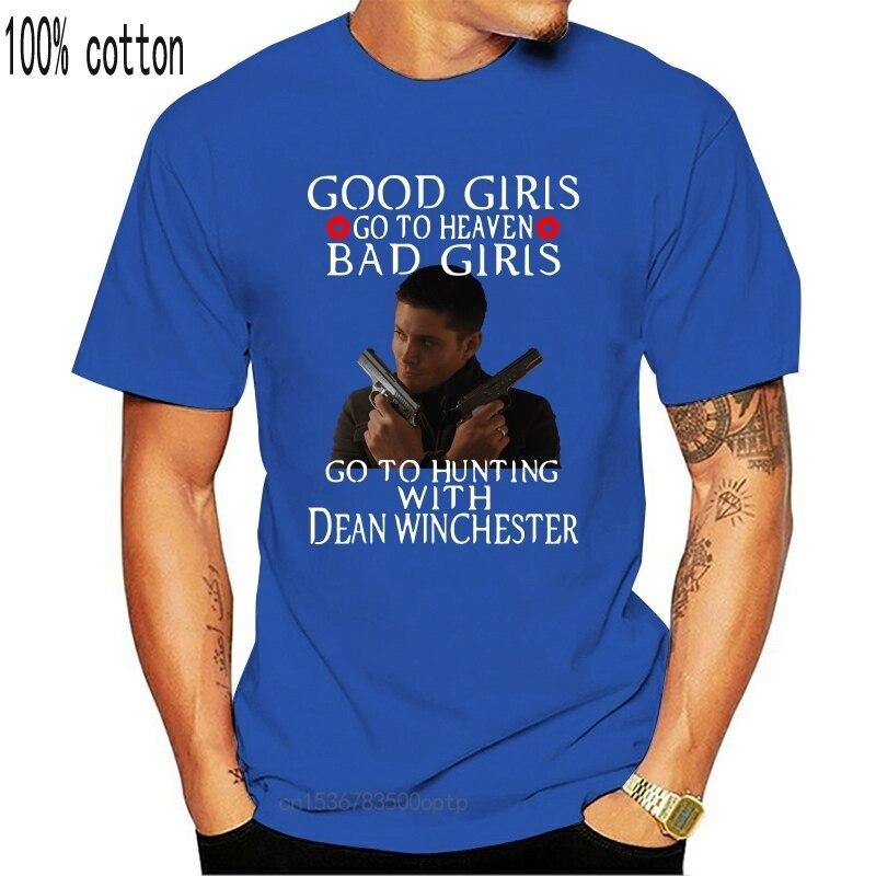 Supernatural bad girls ir à caça com dean winchester preto t shirtcool casual orgulho t camisa masculina unissex moda tshirt