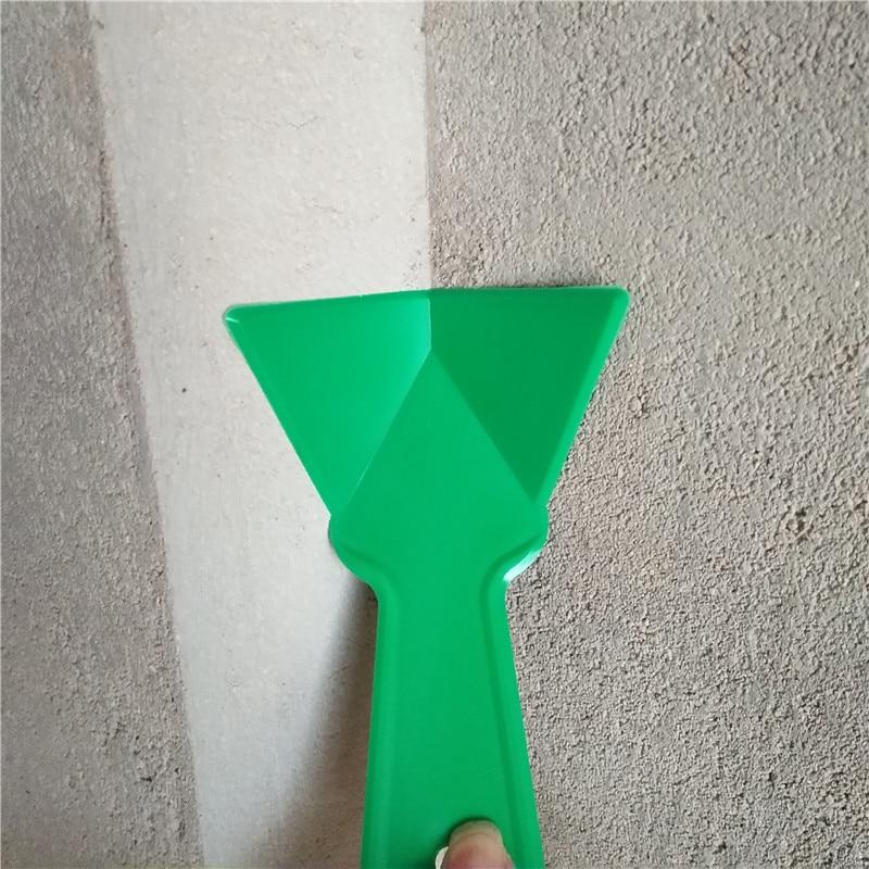 2ks plastový sádrokartonový rohový škrabák tmel nůž finišer čištění štuku odstranění stavitel nástroj pro podlahové stěny keramické dlaždice spárovací hmota