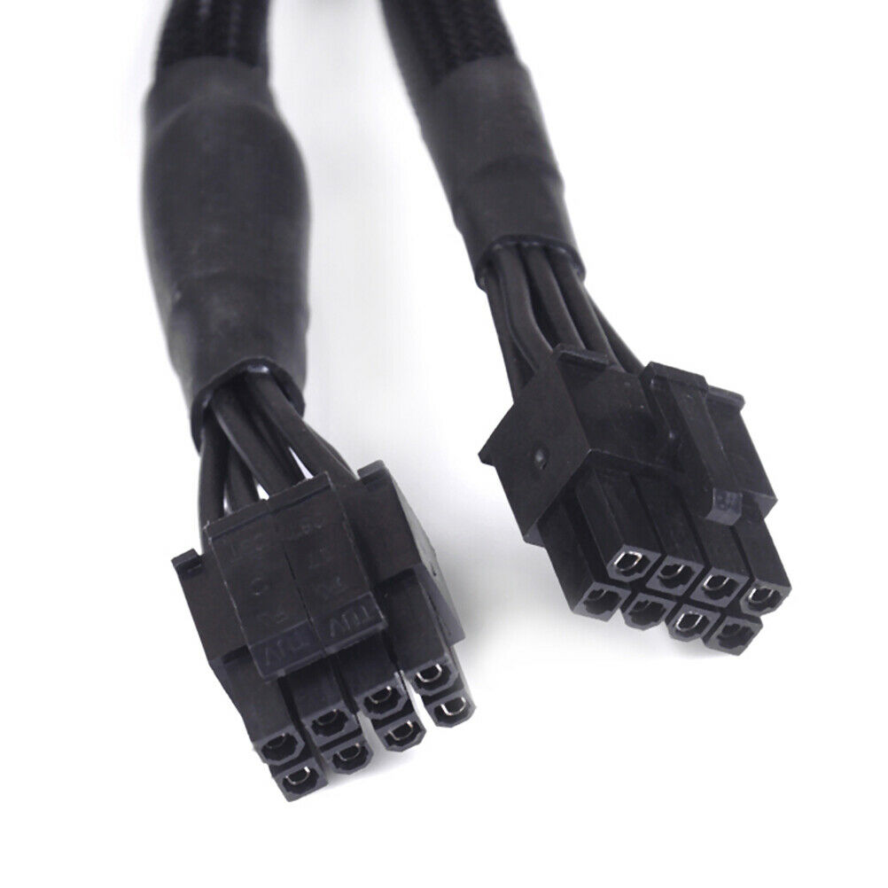 Black CPU 8Pin to 8(4+4)-Pin Modular Power Supply Cable for  Corsair RM550X RM650X RM750X RM850X RM1000X