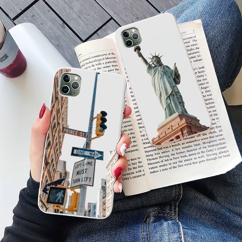 Nueva york teléfono caso blanco Color caramelo para el iPhone 6 7...