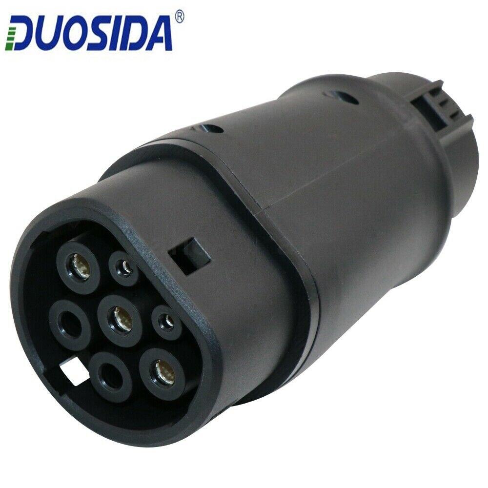 DUOSIDA-محول EV 32 أمبير للسيارة الكهربائية ، شاحن من النوع 1 إلى النوع 2 EV ، قابس J1772