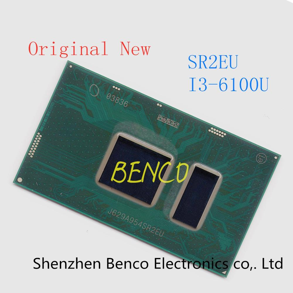 100% genuino nuevo i3-6100U SR2EU i3 6100U CPU Chip BGA Chipset