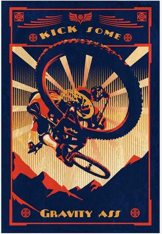 Kick Some-cartel de METAL para bicicleta de montaña, signo de estaño, placa...