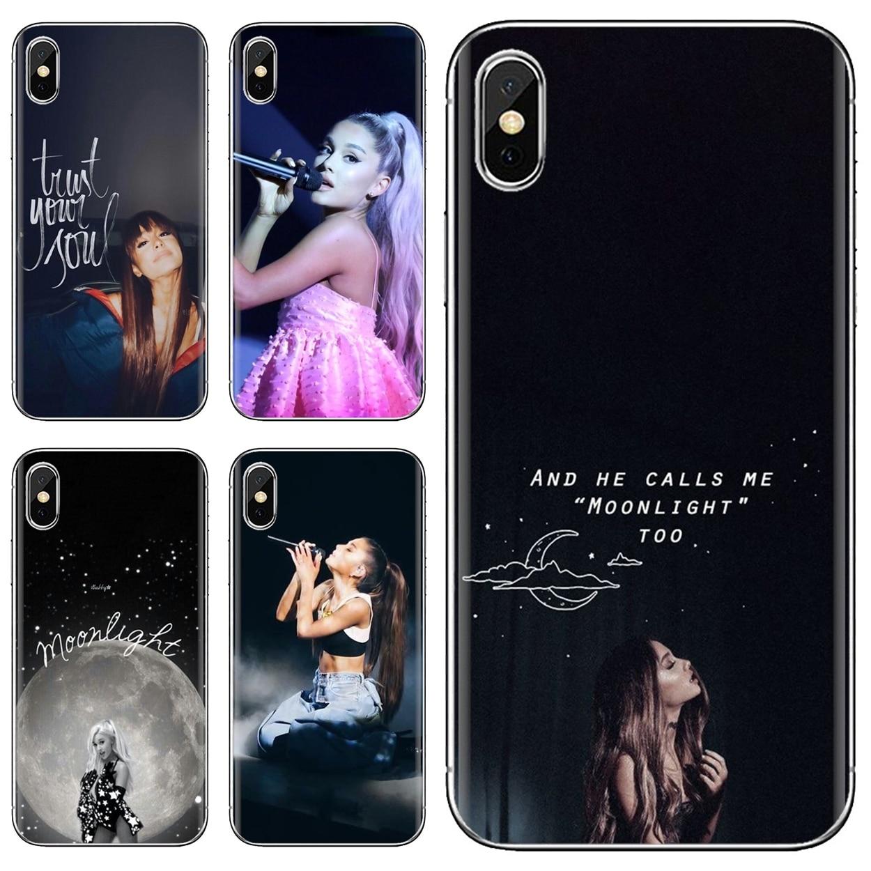 Caso suave arte belleza sexy cantante Ariana Grande para Samsung Galaxy A10 A40 A50 A70 A3 A5 A7 A9 A8 A6 Plus 2018, 2015, 2016, 2017