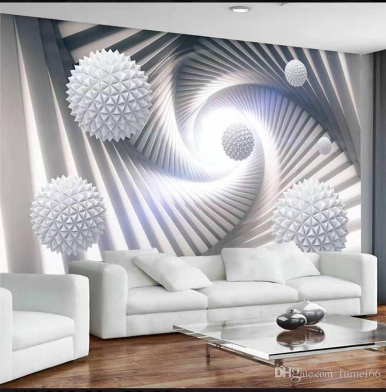 Papel pintado 3d murales para sala de estar papel tapiz moderno minimalista púrpura fondos de dientes de león cuadrado TV fondo de pared