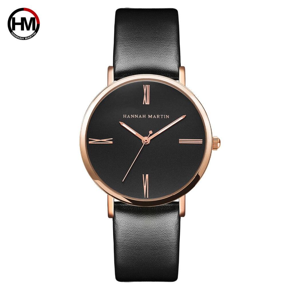 hannah martin New women fashion top Luxury Brand quartz sk clock relogio feminino Ladies rose gold brown watches bayan kol saati enlarge