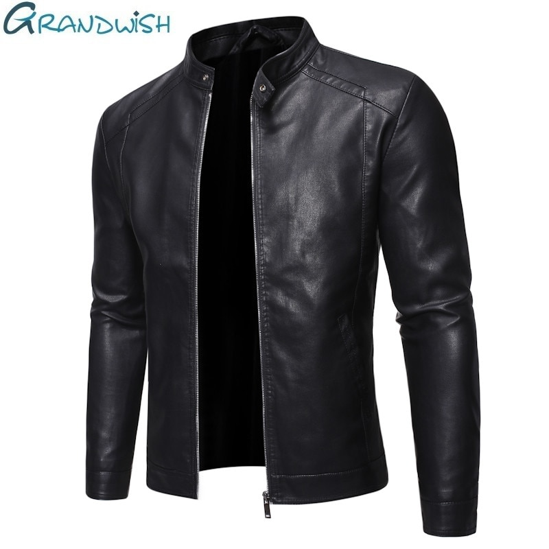 Men Faux Leather Jacket Motorcycle 5XL Men's Jackets Black Jaqueta De Couro Masculina Outwear Male PU Leather Coats Mens,ZA319
