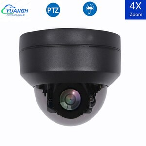 2MP Vandalproof POE PTZ камера 1080P Автофокус 2,5 дюймов Мини купольная ip-камера безопасности 4X оптический зум 2,8-12 мм ИК Ночное Видение