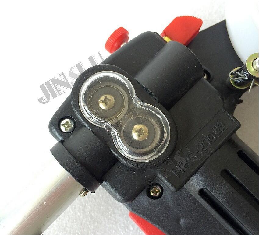 DIY marca MIG carrete pistola Push Pull alimentador de aluminio soplete de soldadura sin Cable caliente DC 24V Cable del Motor 0,8 -1,0mm