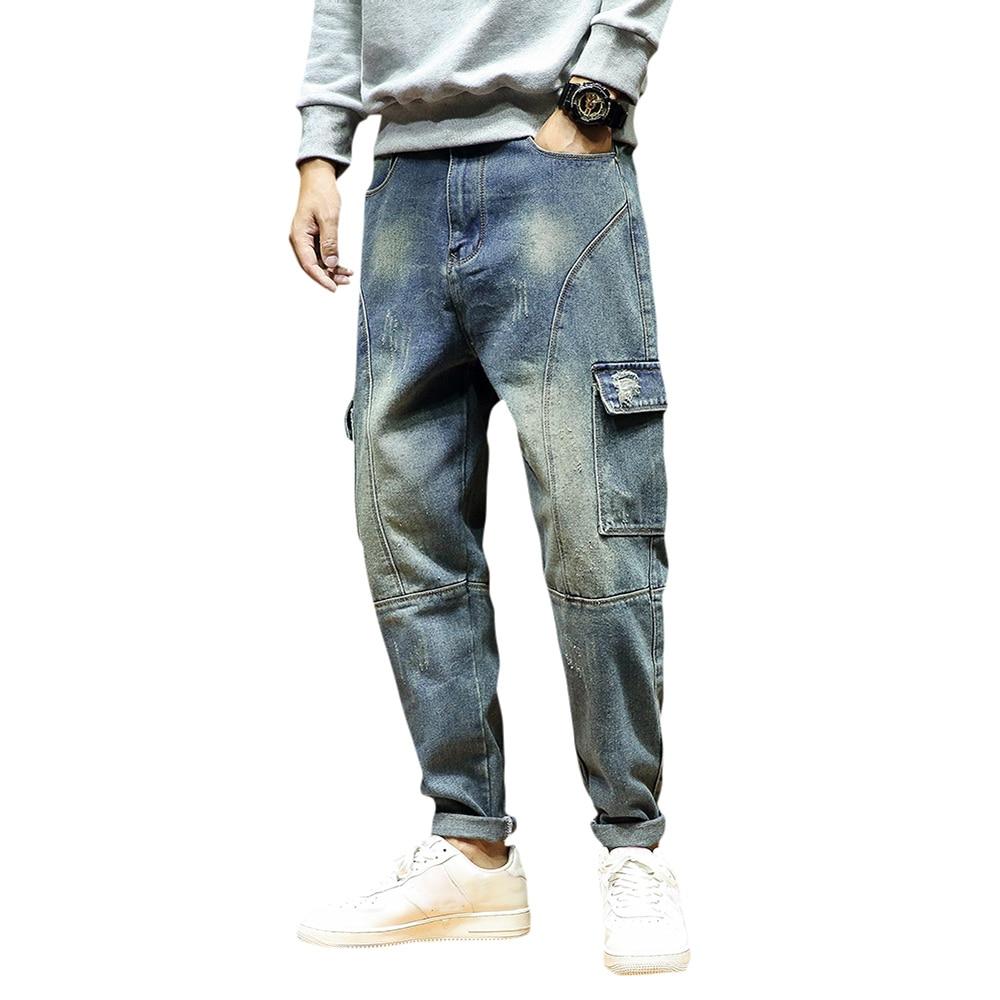 2021 весенние темно-синие мужские джинсы, дизайнерские байкерские джинсы, стрейч, повседневные мужские джинсы высокого качества, хлопковые м...