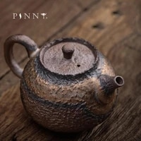 pinny 220ml japanese style gilt teapot ceramic retro kung fu tea pot puer tea maker hand made tea service