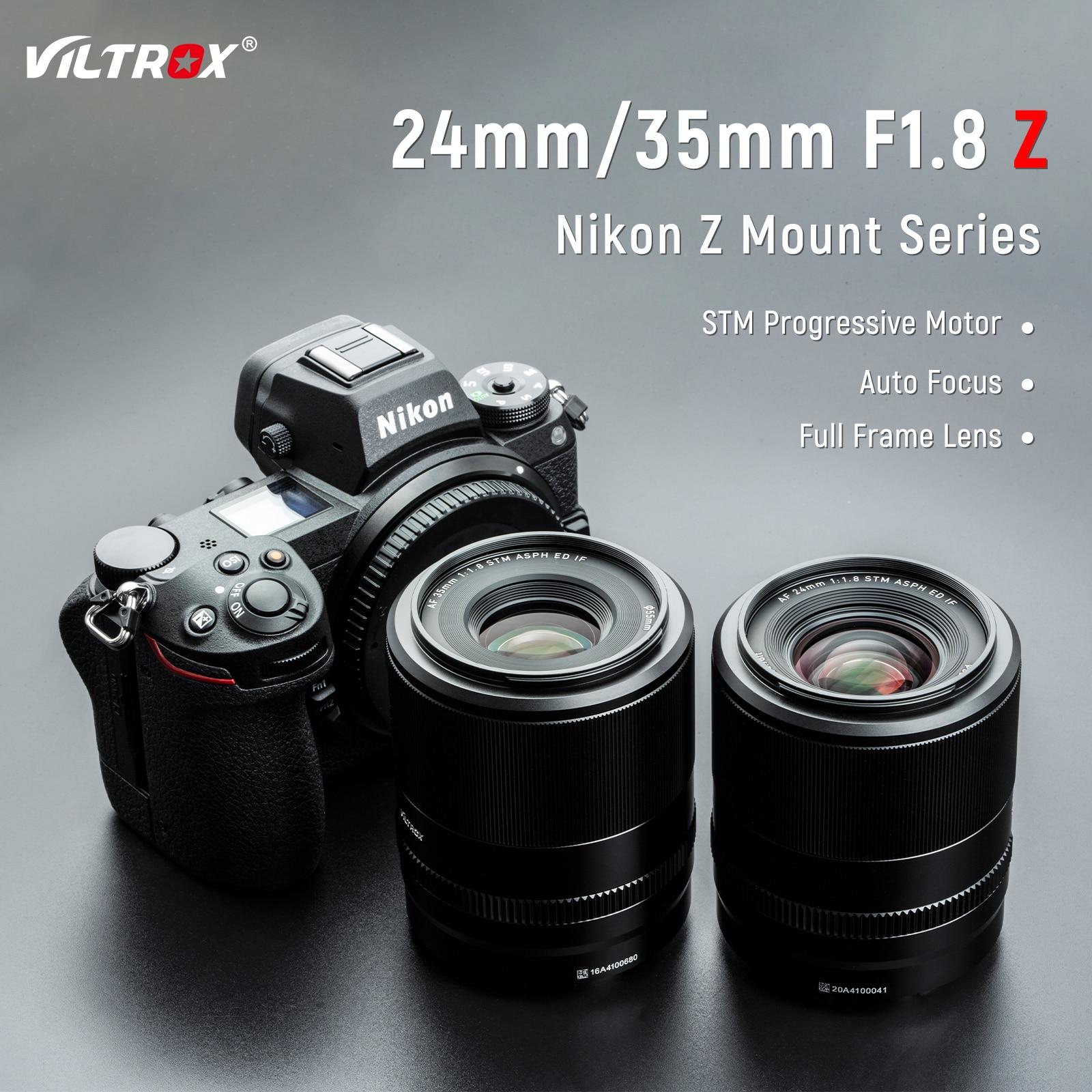 Viltrox 24 مم 35 مم F1.8 Z التركيز التلقائي إطار كامل بزاوية عريضة عدسة أساسية فتحة عدسة كبيرة تركيز العين لعدسة كاميرا Nikon Z Mount Z6II Z7II Z50 Zfc هندسة التصوي...