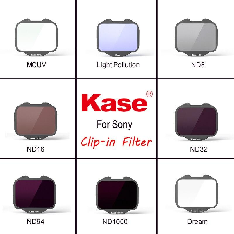 فلتر مدمج من Kase لكاميرا Sony Alpha (MCUV/كثافة محايدة/تلوث الضوء/مرشح الأحلام)