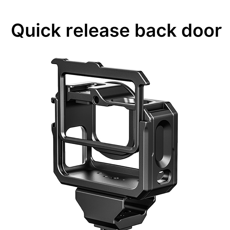G9-5 Metal Cage for Gopro Hero 9 Frame Case With Dual Cold Shoe Camera Extend 52MM Filter Mic adapter Protective enlarge