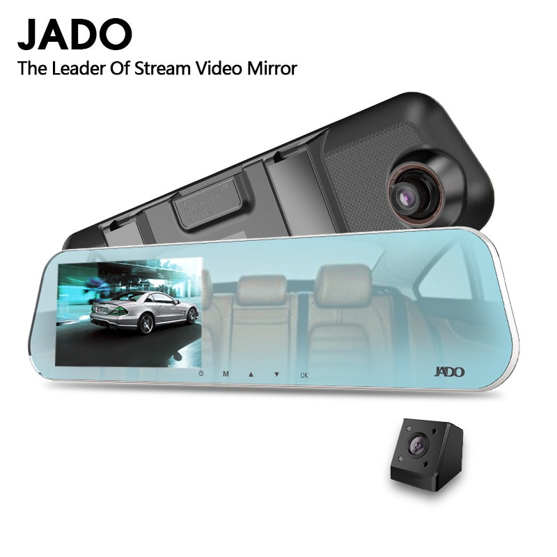 ג אדו D620 רכב Dvr 4.3 LCD מסך מלא HD 1080P רכב Dvrs Rearview מראה דאש מצלמת חניה ניטור רשם וידאו מקליט