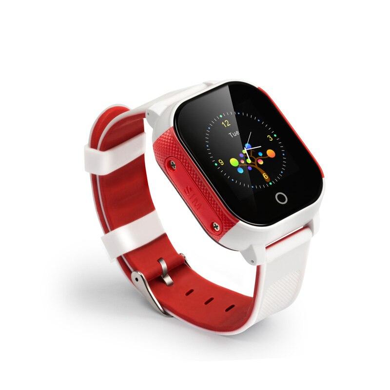 Mr novo fa23 impermeável cartão sim tela de toque gps tracker crianças despertador anti-perdido relógio inteligente crianças longo tempo de espera durável