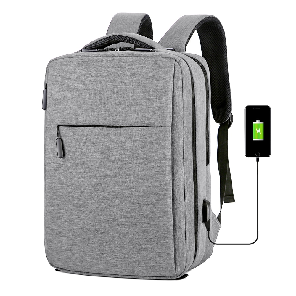 Anti Theft 15.6 17.3 Inch Backpack Men USB Charging Laptop Backpack Waterproof Travel Bag Shockproof multi-use School Bags