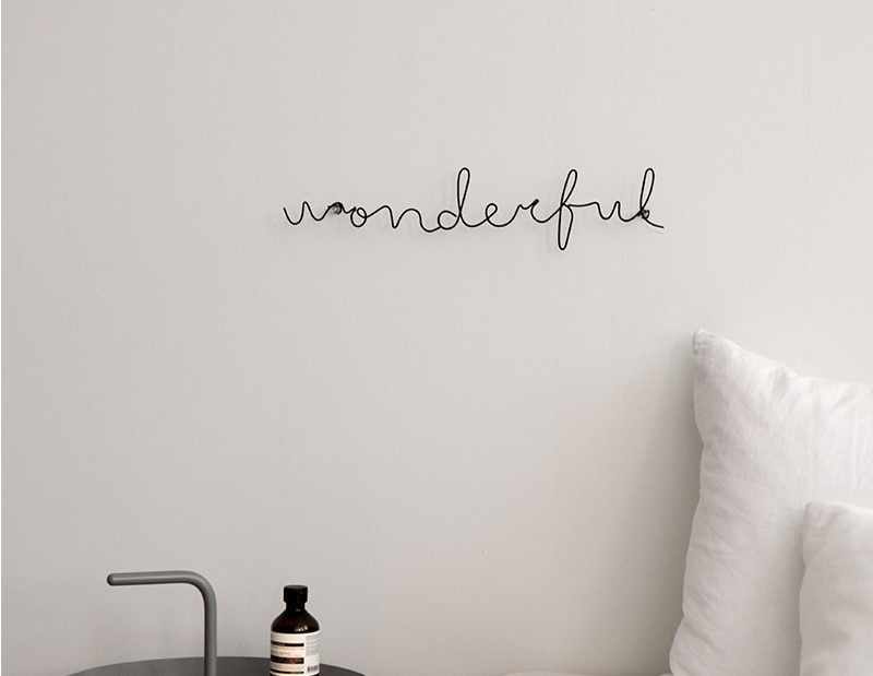 Letras de fio para decoração de casa, presente infantil para parede, amor para cozinha, sala de estar, 6 peças estilos de estilos