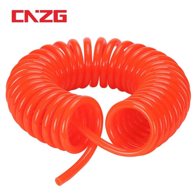 3M 6M 9M 12M 15M manguera del compresor de aire de poliuretano neumático de alta presión 8*5mm 10*6,5 12*8mm herramienta telescópica de Tubo en espiral