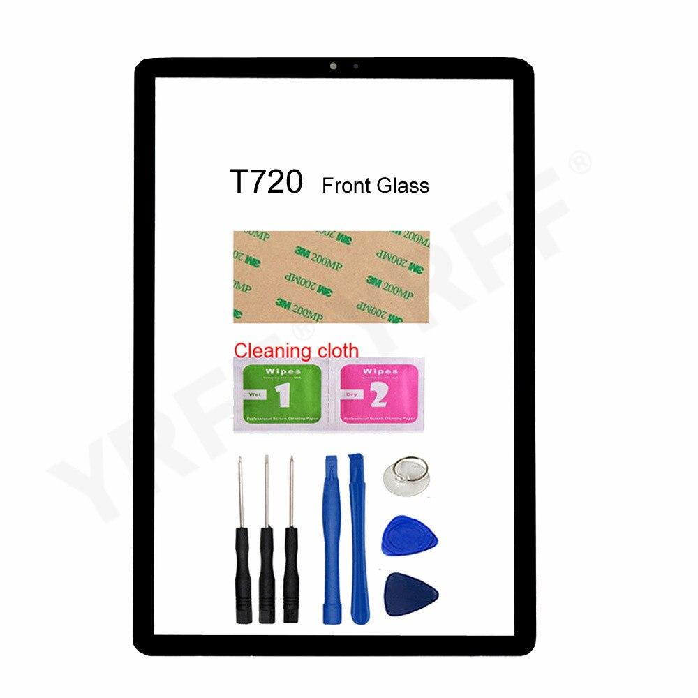 Pour Samsung Galaxy Tab S5e T720 SM-T720 T725 (pas décran tactile LCD) pièces dassemblage de panneau décran en verre avant
