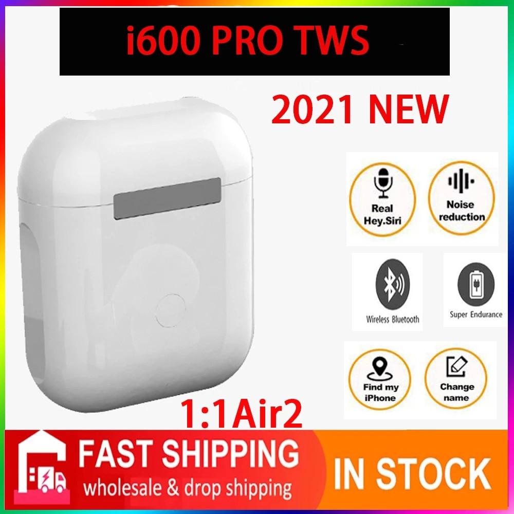 Original i600 PRO TWS 1:1 GPS nombre auriculares Bluetooth inalámbricos PK i7...