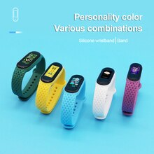 Breathable Smart Watch Wristband Replacement Suitable For Mi Band 5 Sport Running Strap Diamond Patt