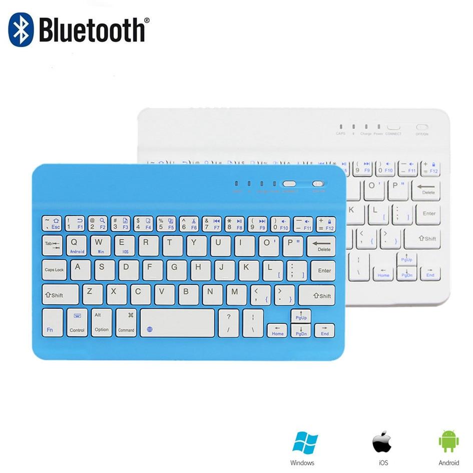 Bluetooth Wireless Keyboard 78 Keys Small Slim Portable Computer Keybord PC Office BT Keypad For Apple iPad Phone Tablet White