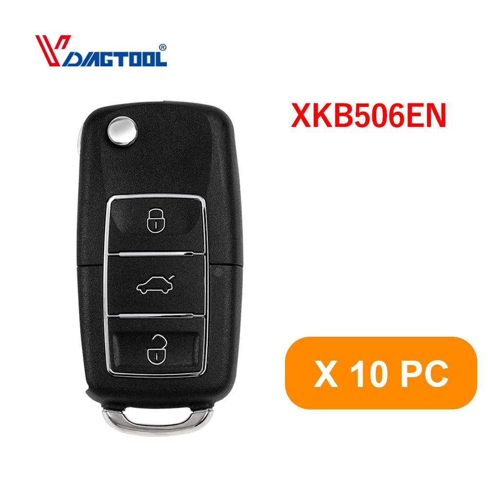 10pc Xhorse XKB506EN Draht Remote Key 3 Tasten für VVDI VVDI2 Schlüssel Werkzeug Max