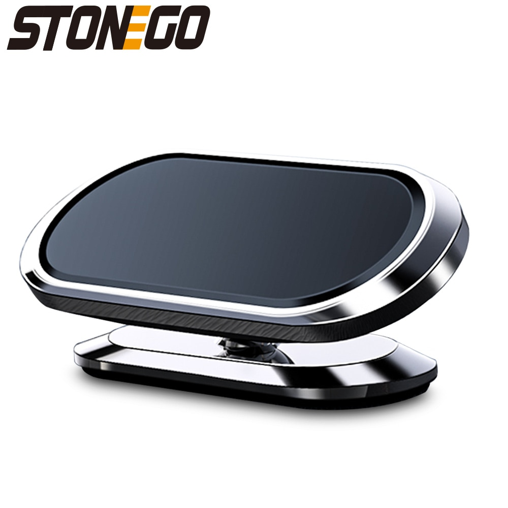 STONEGO Metal Magnetic Phone Holder 360 rotating Car Phone Holder Stand Zinc Alloy Magnet Car Support Mount cellphone holder