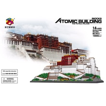 10000 stücke + Potala-palast Bausteine China Tibet Berühmte Architektur Micro Mini Ziegel 9922 Diamant Block Spielzeug Für Kinder