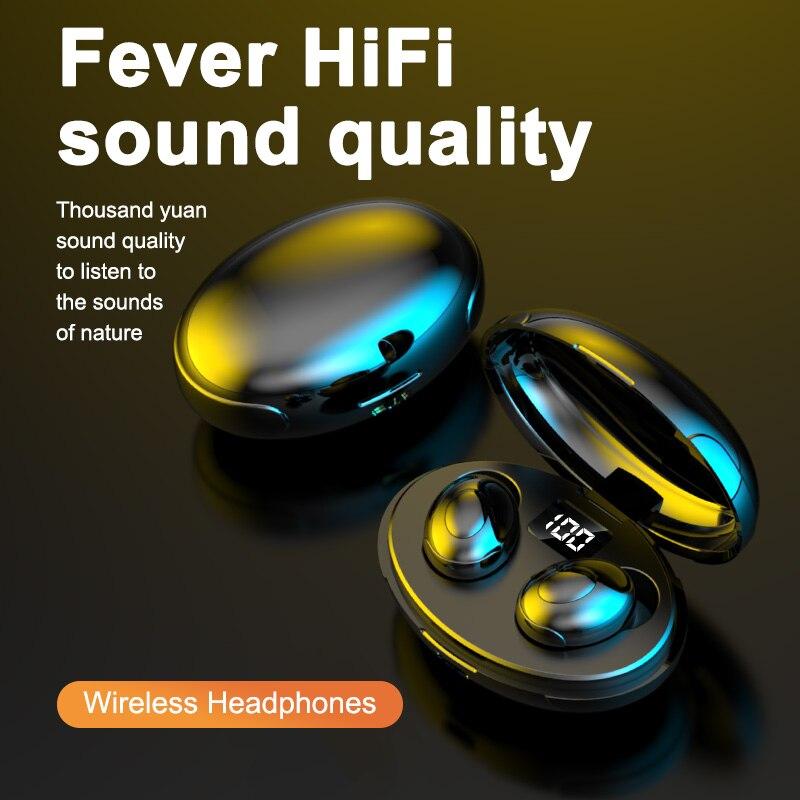 TWS Bluetooth Headphones Gamers Headset Bluetooth Earphone Wireless Earpods Waterproof IPX6 HiFi Ste