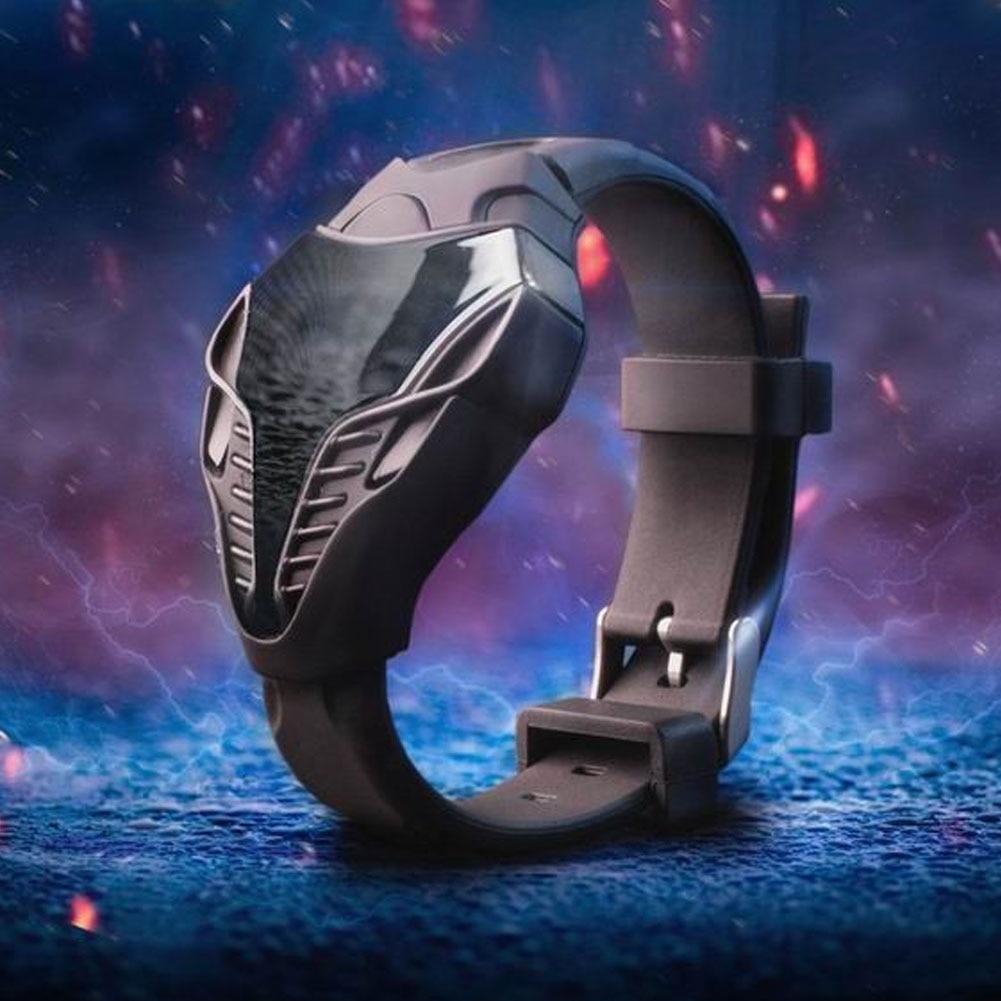 Горячая Распродажа, стильные мужские спортивные наручные часы с треугольным циферблатом и змеиной головой