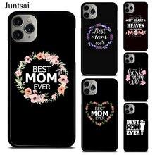 Juntsai meilleure maman jamais cite étui pour iphone XR X XS 11 Pro Max SE 2020 6s 8 7 Plus 5S housse en caoutchouc pour téléphone