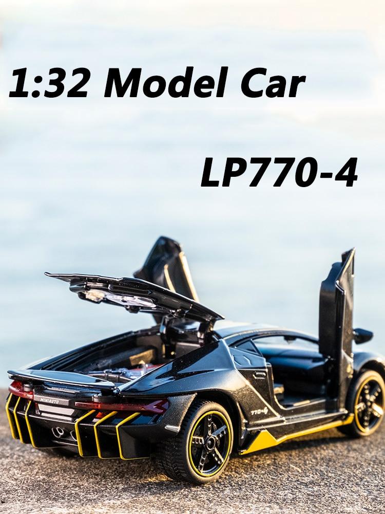 Hot LP770 1:32 Lambor Car Alloy Sports Car Model Diecast Sound Super Racing Lifting Tail Hot Car Wheel For Children Gifts тачки