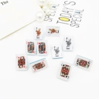 simple personality poker simulation shape fun hand made new ear studs
