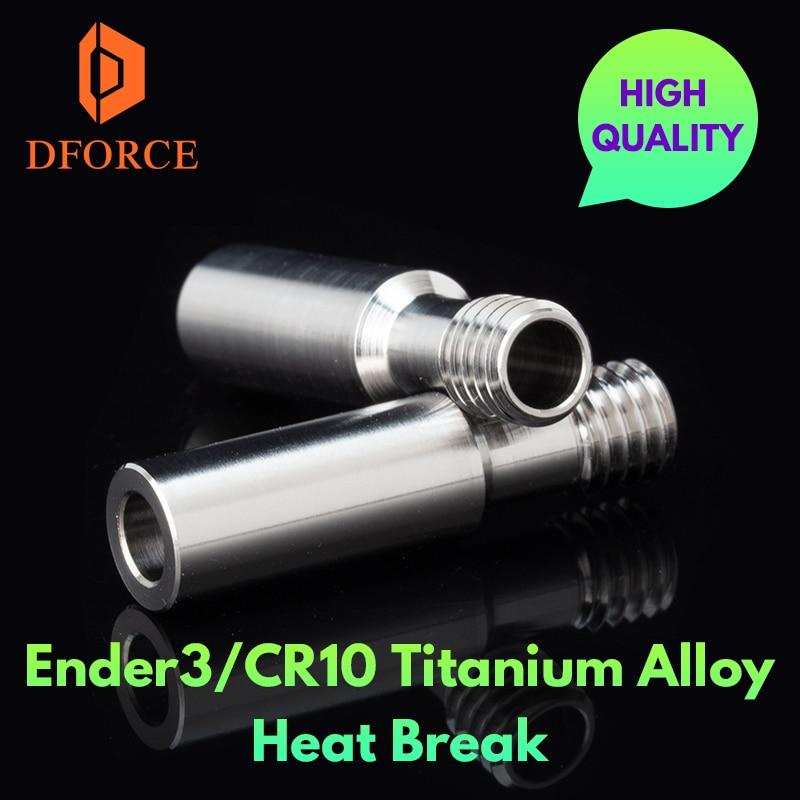 DFORCE عالية الجودة GRADE5 أندر 3 CR10 سبائك التيتانيوم كسر الحرارة ل CR10 هوتند سخان كتلة 1.75 مللي متر خيوط الحرارة كسر