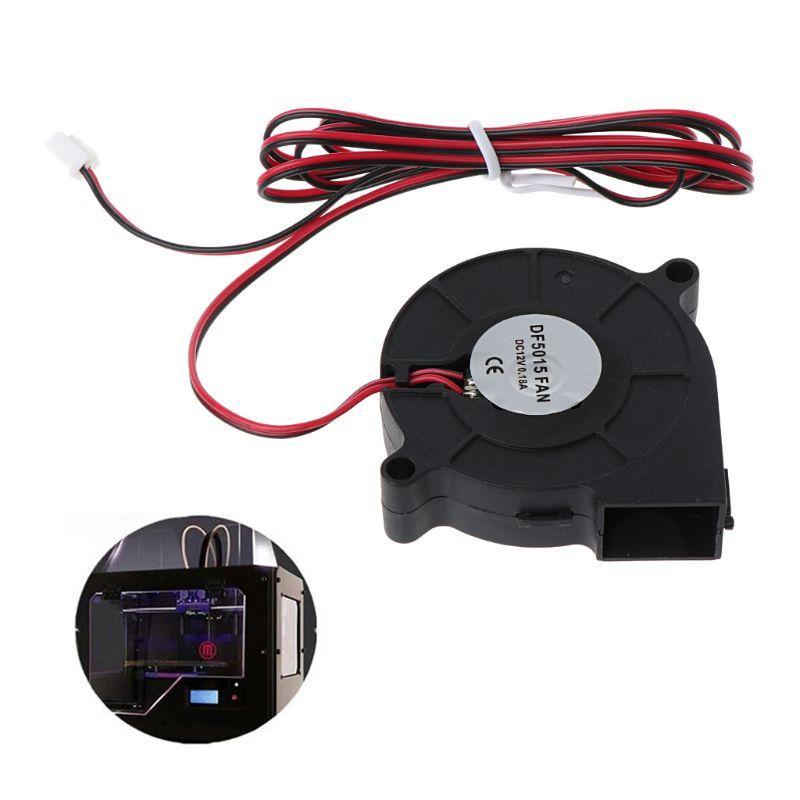 1 pc 12 v dc 50mm ventilador de refrigeração radial hotend extrusora para reprap 3d impressora 95ad