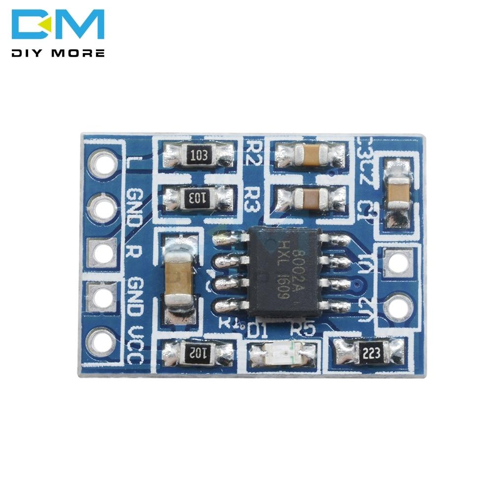 Diymore Mini HXJ8002 Audio Power Amplifier Board 2.0-5.5V 3W Mono Channel Voice low noise Amplifiers Module Replace PAM8403