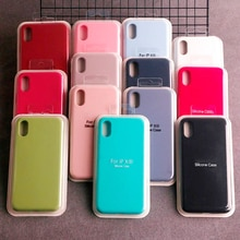 Luxury Official Silicone Case for Apple iPhone 12 Pro MAX XS XR 7 8 6S Plus 11 Mini 12Pro Logo Brand