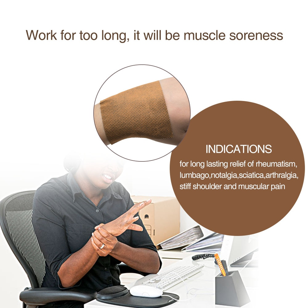 Купить с кэшбэком 8Pcs/Bag Pain Relieving Patch Chinese Medical Plasters Snake Oil Muscle Arthritis Health Care Pain Patchs New 2019 Health care