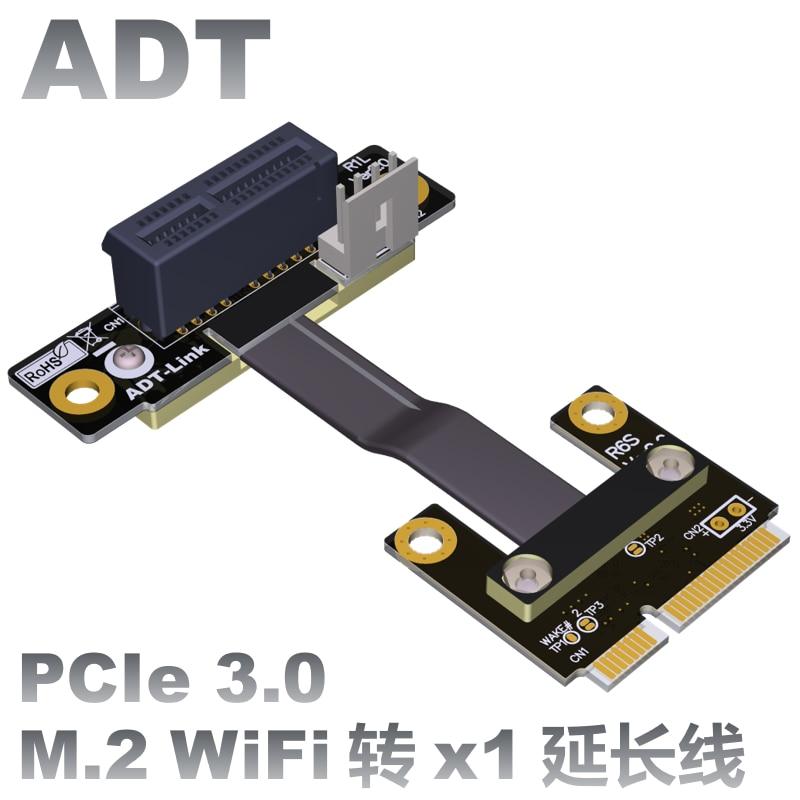 Riser PCIe 1x PCI-E x1 To Mini PCIe Half mPCIe Riser Adapter Card Elbow Design Gen3.0 Cable 8Gbps Mini PCI-E 1 PCI-Express недорого