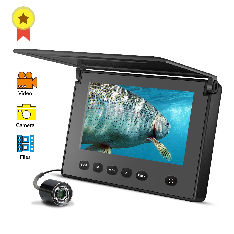 LUCKY cámara portátil de visión nocturna y pesca submarina cámara de visión nocturna 4,3 pulgadas impermeable IP68 20M Cable para hielo/Mar