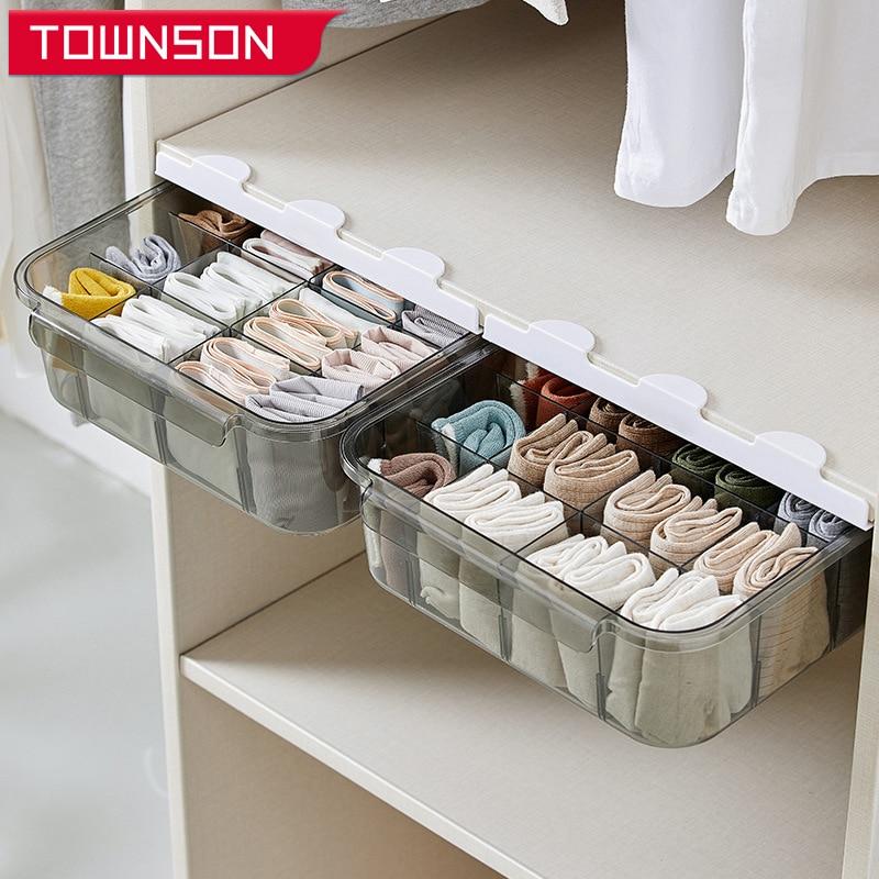 درج نوع صندوق تخزين الملابس الداخليّة درج تخزين المنزلية مقسمة خزانة ملابس بن خزانة تخزين منظم