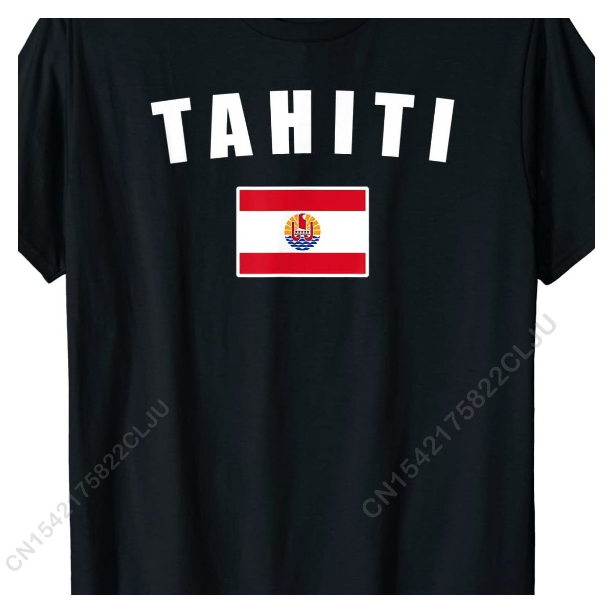 تاهيتي تاهيتي علم الدولة الوطني تاهيتي العلم تي شيرت خصم الرجال T قميص الصيف T قميص القطن الكلاسيكية