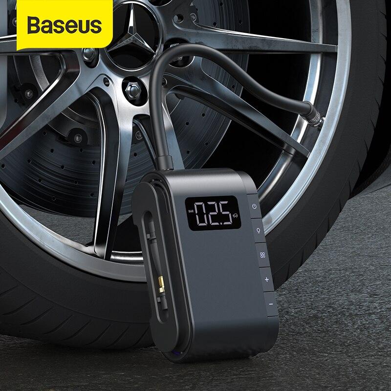 Автомобильный воздушный компрессор Baseus, 4000 мАч, насос для шин, портативный Электрический автомобильный воздушный насос, цифровой автомобил...