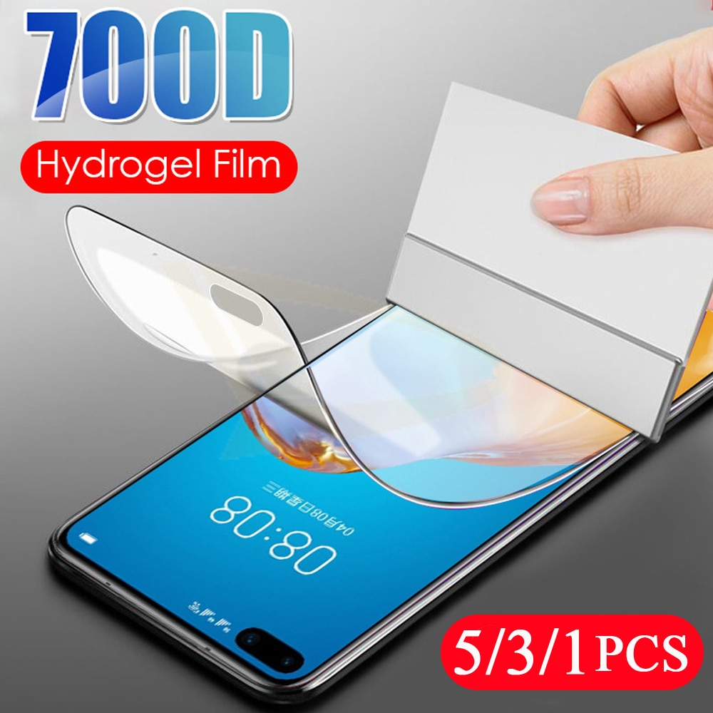 5/3/1Pcs soft full cover for huawei P20 P30 P40 lite E P40 pro plus phone screen protector protective hydrogel film Not Glass