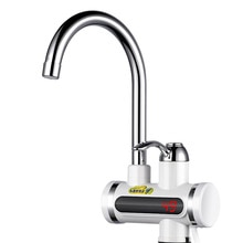 360 Rotatable Electric Water Heater Tap EU Plug Digital Display Instant Warm/Cold Faucet
