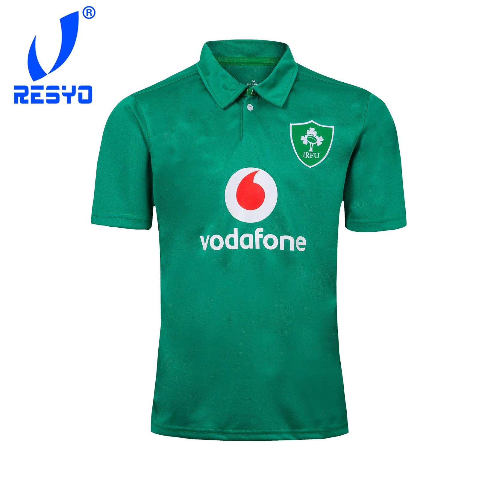 Resyo para 2019 irland polos camisa de rugby camisa esportiva masculina S-3XL